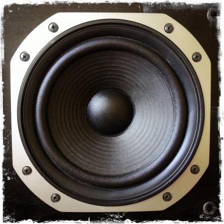 Closeup of stereo speaker Stock Photo - 16174060