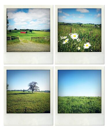 Four photos of various rural scenes Stock Photo - 16261314