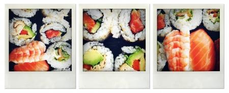 Closeup of a sushi meal Stock Photo - 16385387