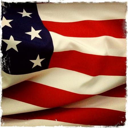 american flags: Primer plano de la bandera americana