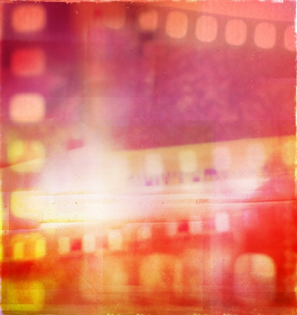 film strip: Abstract film negatives color background  Stock Photo