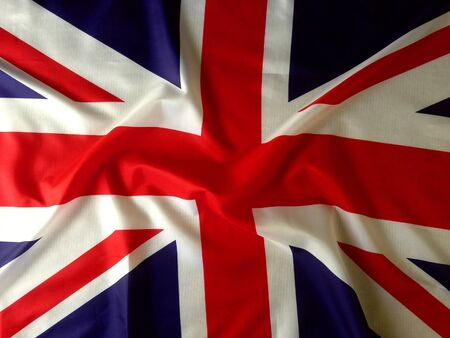 Closeup of Union Jack flag photo