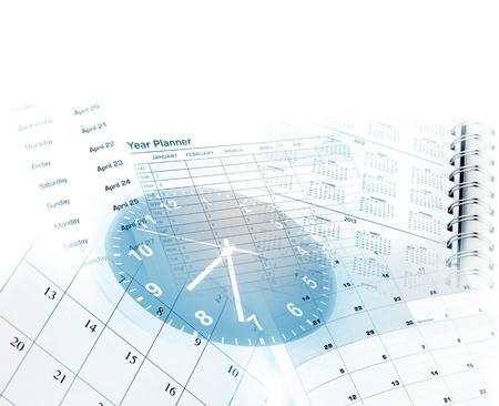punctual: Cara de reloj y las páginas del calendario