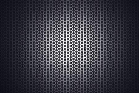 spotlit: Light glow on grill pattern Stock Photo