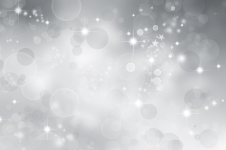 silver backgrounds: Stars on abstract grey and white background