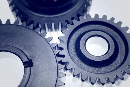 Closeup of three metal gears Stock Photo - 16903325