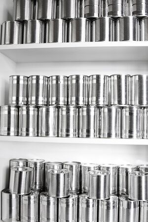Tin cans on shelf Stock Photo - 16903091