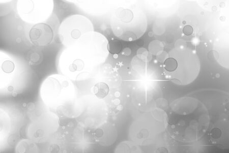 Stars on abstract grey and white background photo