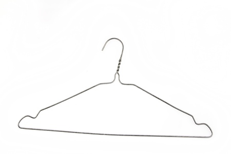 coathanger: Coat hanger isolated on plain background