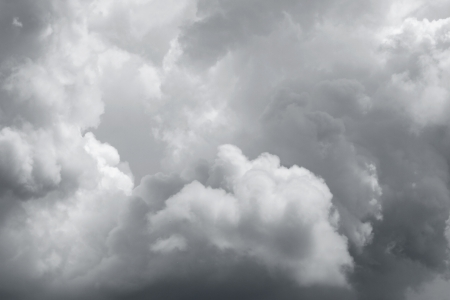 bad weather: Ominous storm clouds