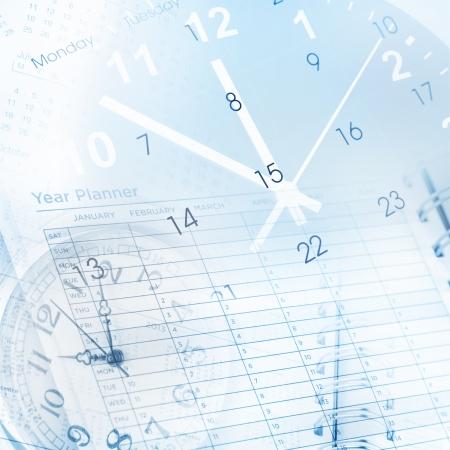 calendario: Relojes, p�gina calendario y planificador a�o