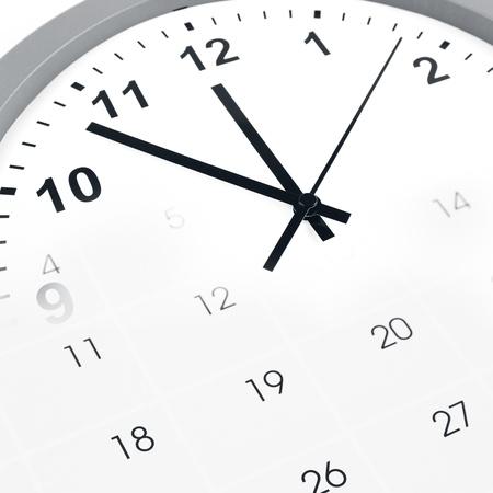 gestion del tiempo: Cara de reloj y calendario compuesto