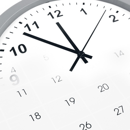 Clock face and calendar composite Stock Photo - 17361033