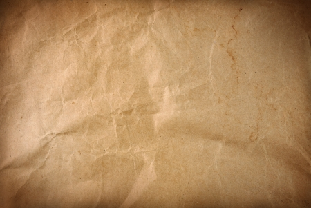 Closeup of brown wrinkled paper texture background Stock Photo - 17381308