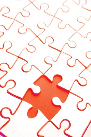 Piece missing from jigsaw puzzle Stock Photo - 17381118
