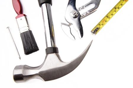 Closeup of tools on plain background Stock Photo - 17381111