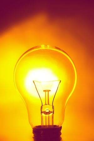 Light bulb on bright background Stock Photo - 17455313