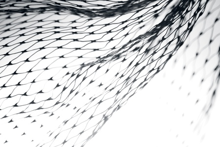 fishnet: Closeup of abstract fishnet on white background