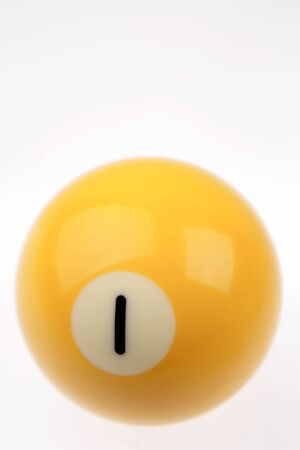 Number one billiard ball on plain background Stock Photo - 17455309
