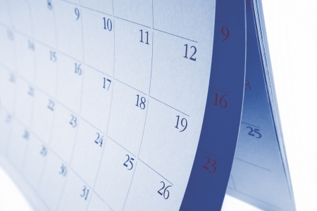 Closeup of numbers on calendar pages Stock Photo - 17455314