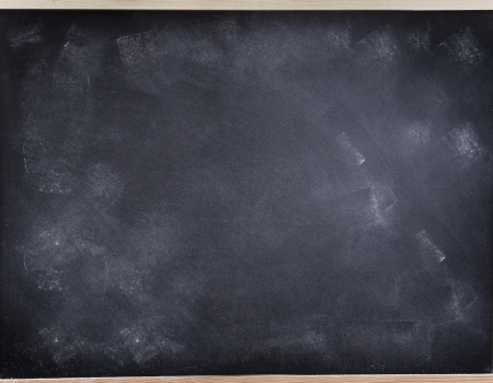 Chalk rubbed out on blackboard Stock Photo - 17534498