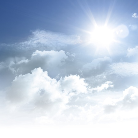 Bright sun in clouds  Copy space Stock Photo - 17534497