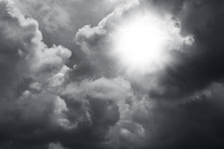 Dark ominous clouds  Dramatic sky Stock Photo - 17680457