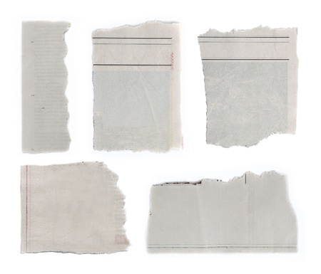 Pieces of torn paper on plain background  Copy space Stock Photo - 17791205