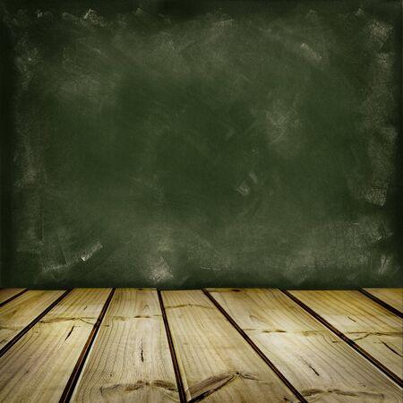 floorboards: Suelo de madera y paredes en blanco