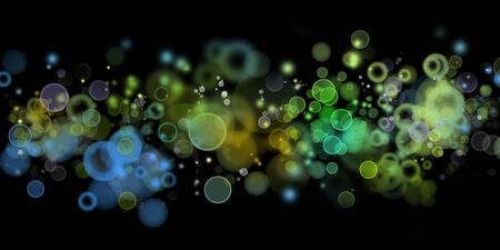 efectos especiales: Resumen círculos verde y azul de fondo