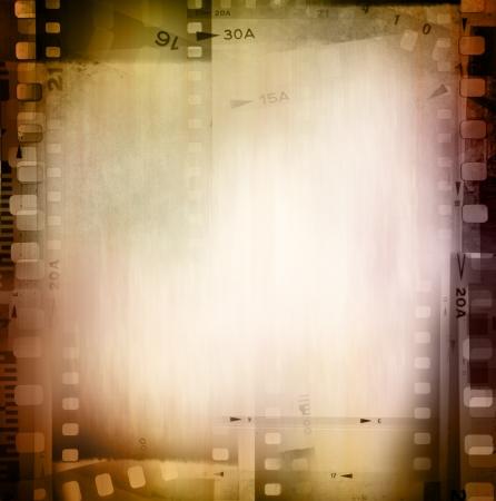 macro film: Film negatives frame, copy space