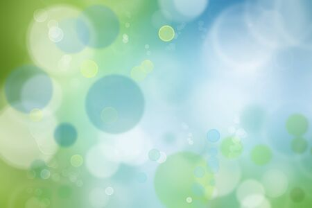 blue bubbles: Abstract blue and green tone background Stock Photo