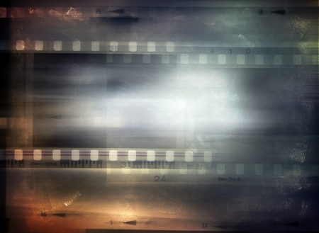 negative spaces: Film strips background, copy space