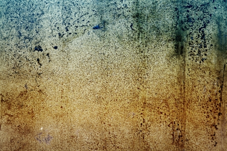 Brown and green grunge textured wall closeup Stock Photo - 18154055