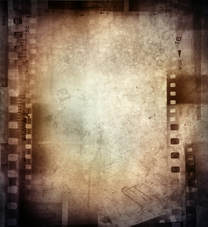 negative spaces: Film negatives frame, copy space Stock Photo