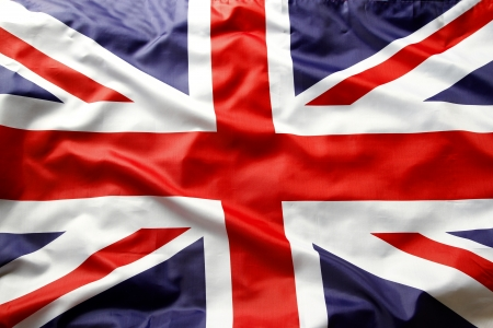 Detalle de bandera de Union Jack photo