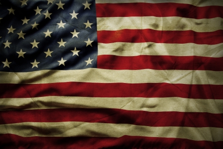 Closeup of grunge American flag Stock Photo - 18434166
