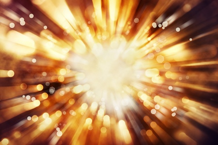 Bright blast of light in space background  Stock Photo - 18434143