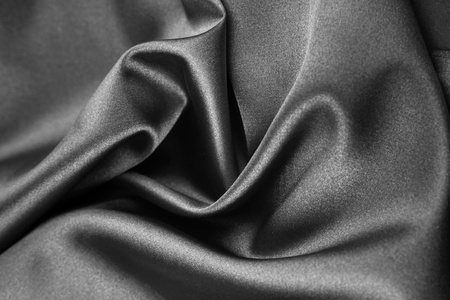 Closeup of rippled silk fabric photo