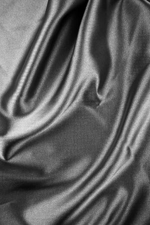 Closeup of rippled silk fabric photo