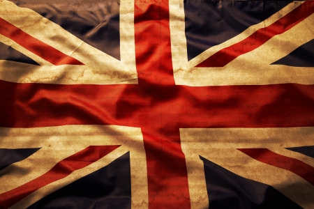 bandera inglaterra: Detalle de grunge bandera de Union Jack