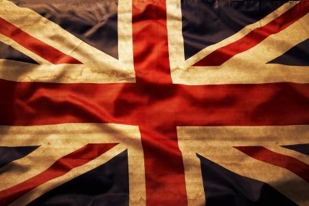 bandiera inghilterra: Primo piano del grunge di bandiera Union Jack