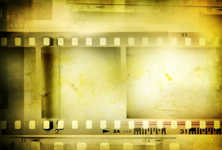 Film negative frames, copy space photo