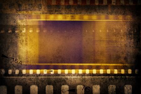 Film negative frames, film strips