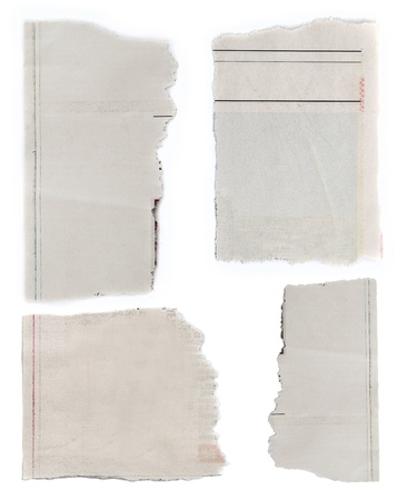 fray: Pieces of torn paper on plain background  Copy space