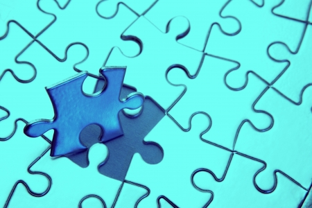 Final piece of jigsaw puzzle  photo