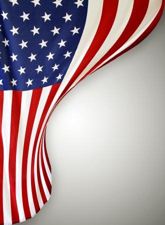 bandera estados unidos: Primer plano de la bandera estadounidense en el fondo plano