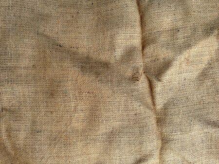sack cloth: Closeup of natural burlap hessian sacking