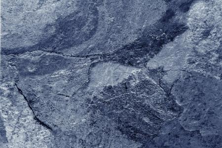 青いトーンのスレートの床のクローズ アップ 写真素材
