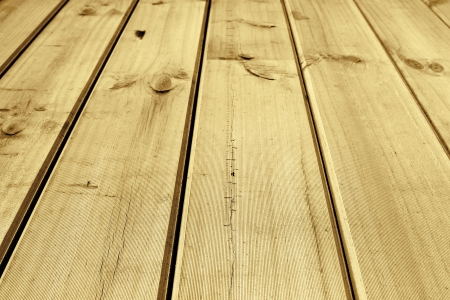Closeup of wooden floor boards photo